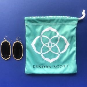 KENDRA SCOTT Danielle Earrings black gold EUC